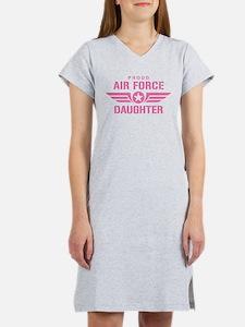 Proud Air Force Daughter W [pink] Women's Nightshi