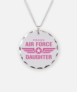 Proud Air Force Daughter W [pink] Necklace
