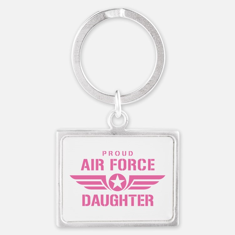 Proud Air Force Daughter W [pink] Landscape Keycha