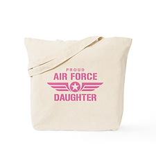 Proud Air Force Daughter W [pink] Tote Bag