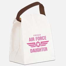 Proud Air Force Daughter W [pink] Canvas Lunch Bag