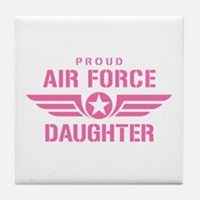 Proud Air Force Daughter W [pink] Tile Coaster