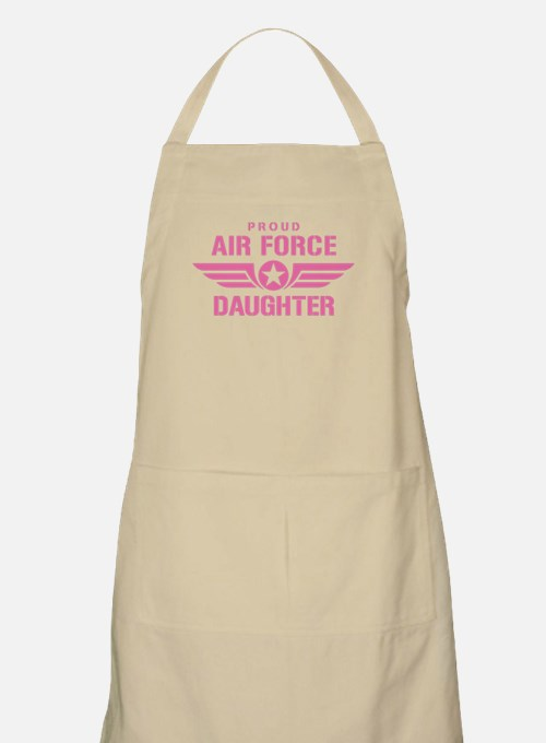 Proud Air Force Daughter W [pink] Apron