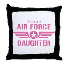 Proud Air Force Daughter W [pink] Throw Pillow