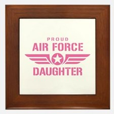 Proud Air Force Daughter W [pink] Framed Tile