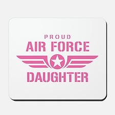 Proud Air Force Daughter W [pink] Mousepad