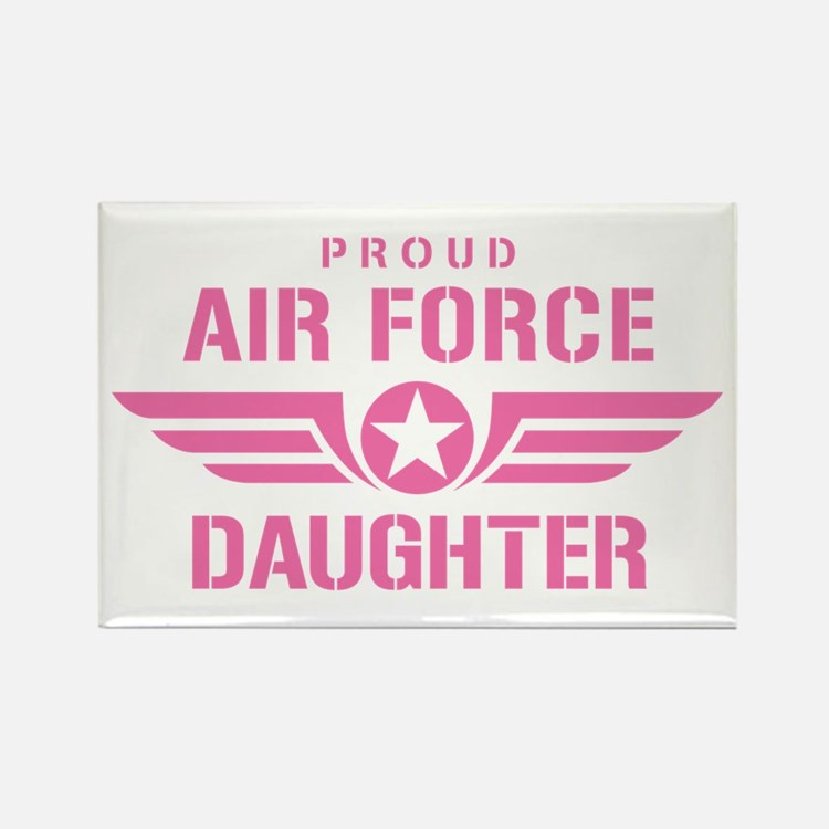 Proud Air Force Daughter W [pink] Rectangle Magnet