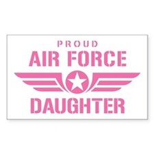 Proud Air Force Daughter W [pink] Decal