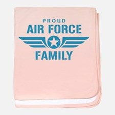 Proud Air Force Family W baby blanket