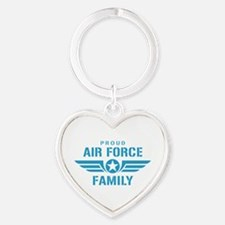 Proud Air Force Family W Heart Keychain