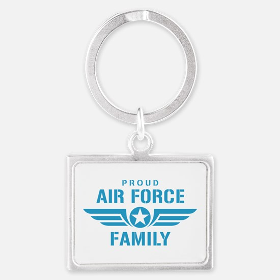 Proud Air Force Family W Landscape Keychain