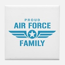 Proud Air Force Family W Tile Coaster