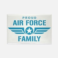 Proud Air Force Family W Rectangle Magnet