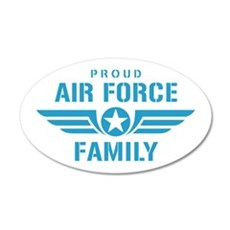 Proud Air Force Family W Wall Decal