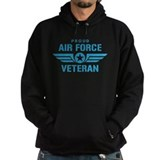 Air force veterans Hoodie (dark)