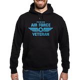 Air force veterans Hoodie (dark)