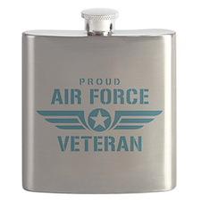 Proud Air Force Veteran W Flask