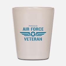 Proud Air Force Veteran W Shot Glass