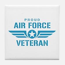 Proud Air Force Veteran W Tile Coaster