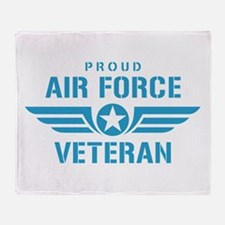 Proud Air Force Veteran W Throw Blanket