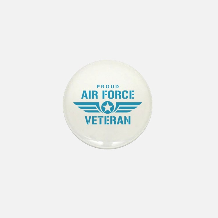 Proud Air Force Veteran W Mini Button