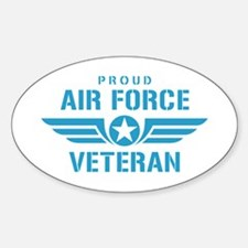 Proud Air Force Veteran W Sticker (Oval)