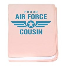 Proud Air Force Cousin W baby blanket