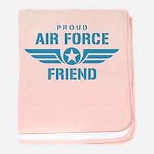 Proud Air Force Friend W baby blanket