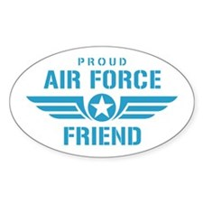 Proud Air Force Friend W Decal