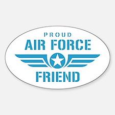 Proud Air Force Friend W Sticker (Oval)