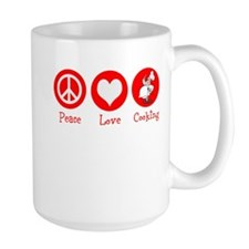 Peace Love Cooking Mug