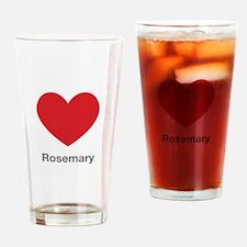 Rosemary Big Heart Drinking Glass