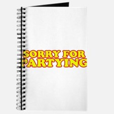 Sorry for partying Journal