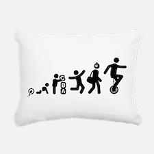 Unicycle Rider Rectangular Canvas Pillow