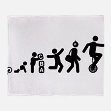 Unicycle Rider Throw Blanket