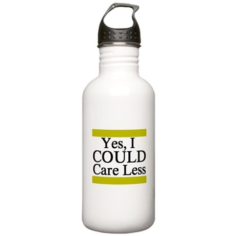 Yes, I Could Care Less Stainless Water Bottle 1.0L