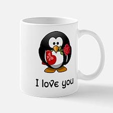 I Love You Penguin Mug