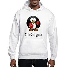 I Love You Penguin Hoodie