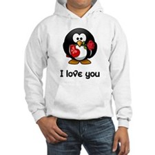 I Love You Penguin Jumper Hoody