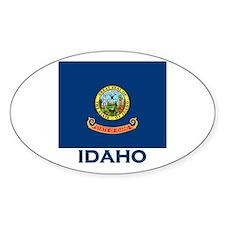 Idaho Flag Merchandise Oval Stickers