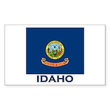 Idaho Flag Merchandise Rectangle Decal