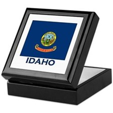 Idaho Flag Merchandise Keepsake Box
