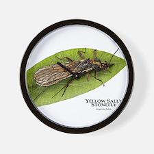 Yellow Sally Stonefly Wall Clock