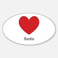 Sadie Big Heart Decal