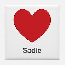 Sadie Big Heart Tile Coaster