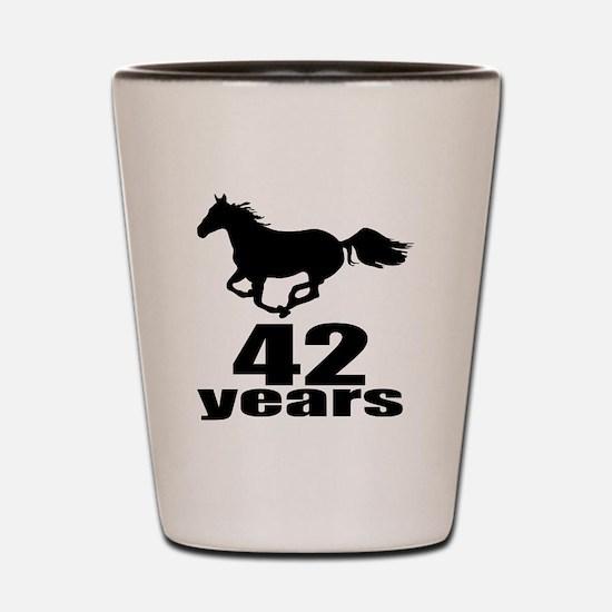 42 Years Birthday Designs Shot Glass