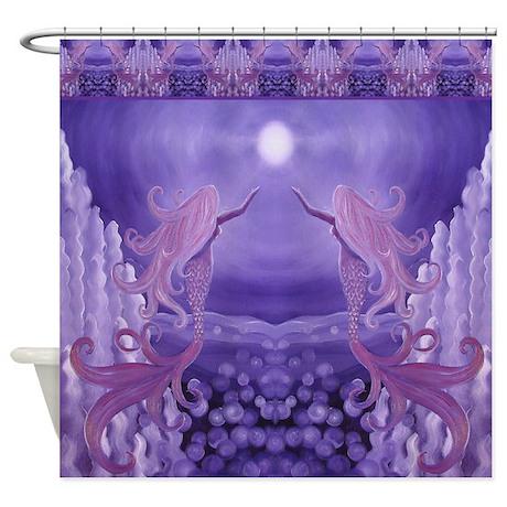 Lavender Mermaid Shower Curtain
