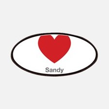 Sandy Big Heart Patches
