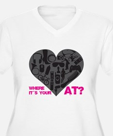 Where is your Heart @ Plus Size T-Shirt