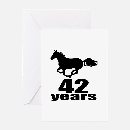 42 Years Birthday Designs Greeting Card